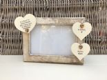 Shabby personalised Chic Photo Frame In Memory Of Son Or Any Loved One Any Names - 232993447293